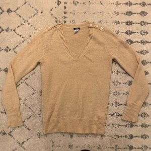J Crew V Neck Wool Blend sweater